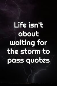 Life isn't about waiting for the storm to pass quotes
