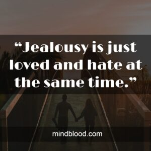 """""""Jealousy is just loved and hate at the same time."""""""