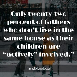 """Only twenty-two percent of fathers who don't live in the same house as their children are """"actively"""" involved."""""""