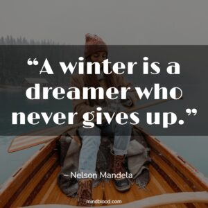 """""""A winter is a dreamer who never gives up."""""""