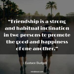 """""""Friendship is a strong and habitual inclination in two persons to promote the good and happiness of one another."""""""