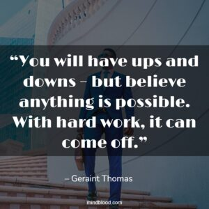 """""""You will have ups and downs – but believe anything is possible. With hard work, it can come off."""""""