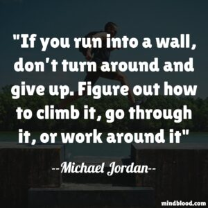 If you run into a wall, don't turn around and give up. Figure out how to climb it, go through it, or work around it