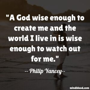 A God wise enough to create me and the world I live in is wise enough to watch out for me