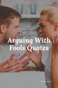 Best 27 Arguing With Fools Quotes